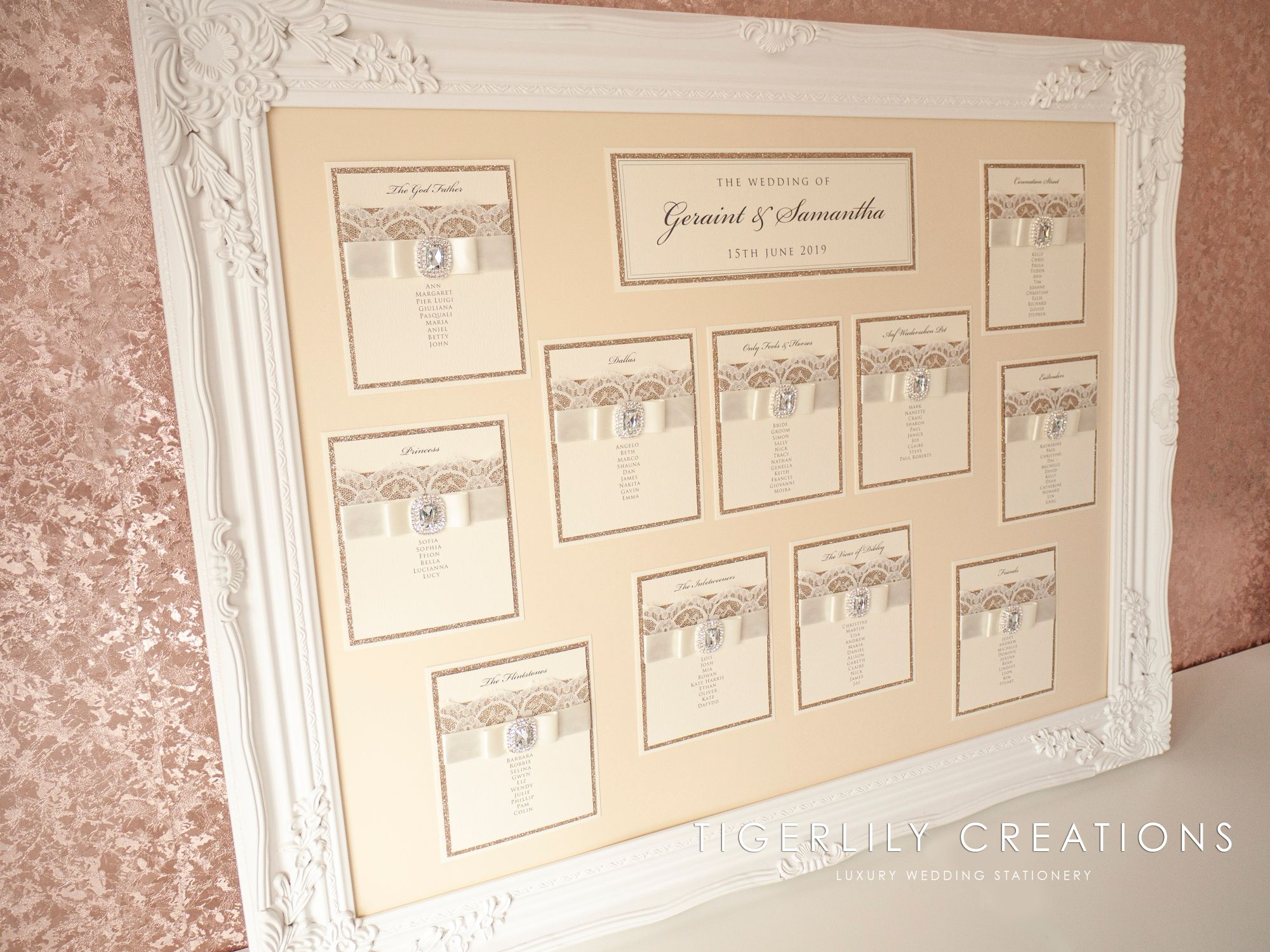 Luxury Lace Wedding Table Plan