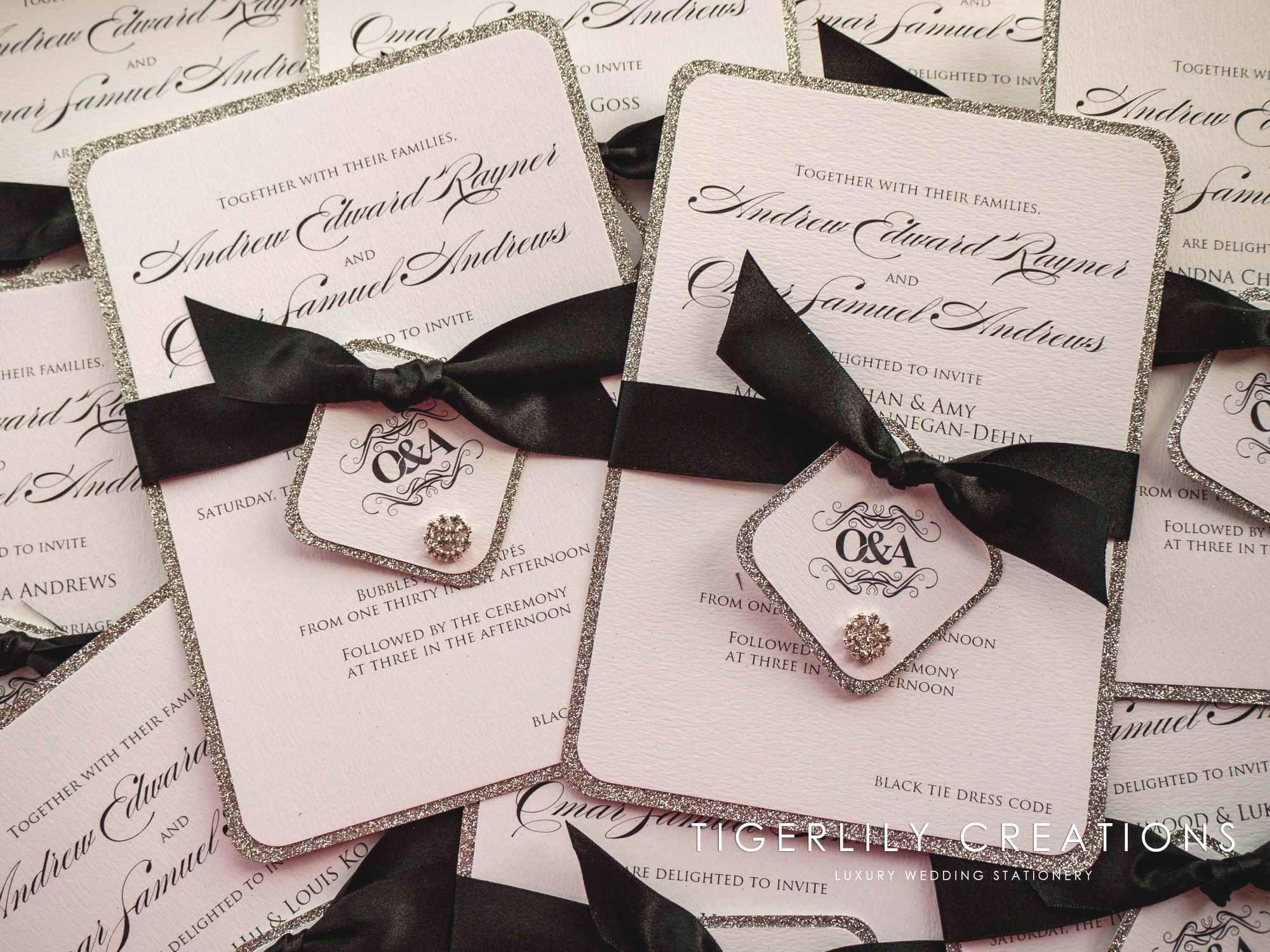Black & Silver Wedding Invitations