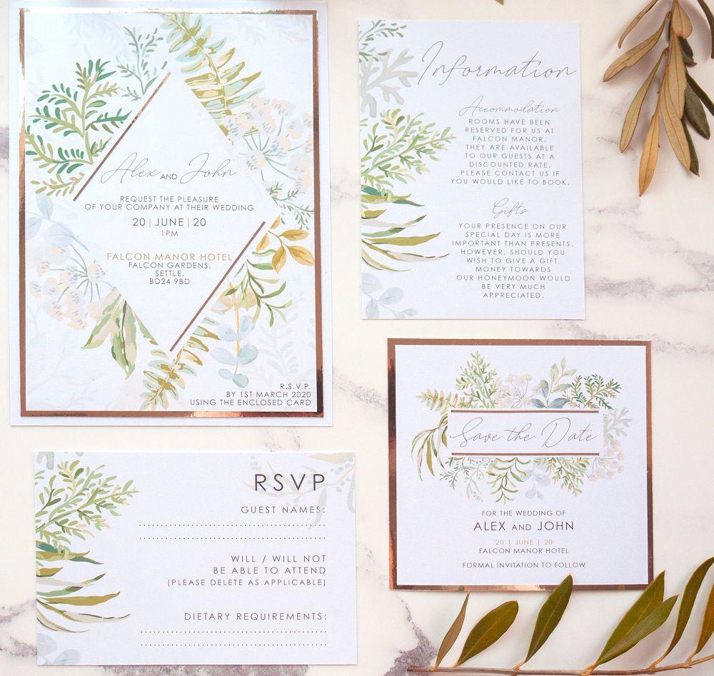 Falcon Sample Wedding Invitation