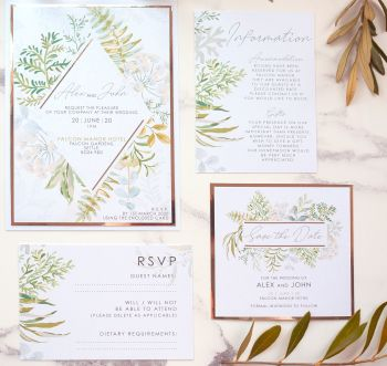 Falcon Sample Wedding Invitation