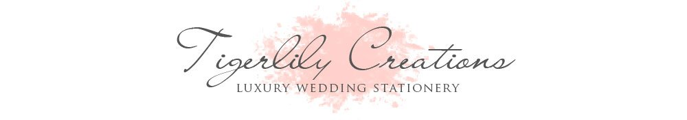 Tigerlily Creations Luxury Wedding Stationery West Yorkshire UK, site logo.