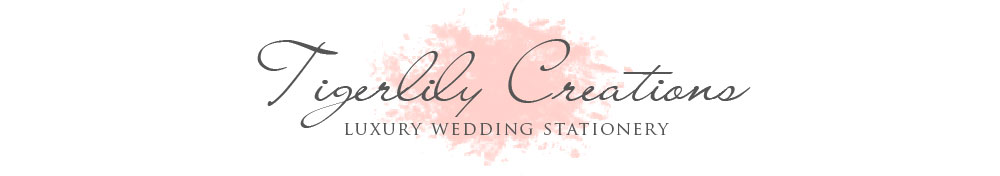 Tigerlily Creations Luxury Wedding Stationery West Yorkshire UK, site logo.
