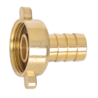 "BRF3812 Brass Threaded to Barbed Straight Water Fitting (3/8"" BSP Female to 1/2"" (12mm) Barb)"
