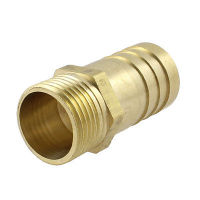 "BRM5012 Brass Threaded to Barbed Straight Water Fitting (1/2"" BSP Male to 1/2"" (12mm) Barb)"