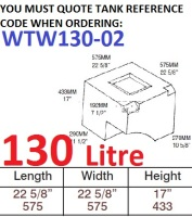 130 LITRE Water Tank & RED CAP WTW130-02