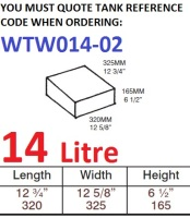 <!--014-->14 LITRE Water Tank & Loose Hatch WTW014-02