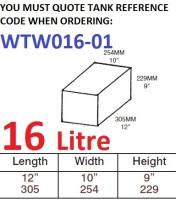 16 LITRE Water Tank & Loose Hatch WTW016-01