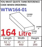 164 LITRE Water Tank & Loose Hatch WTW164-01