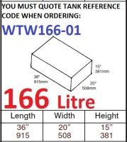 <!--166-->166 LITRE Water Tank & Loose Hatch WTW166-01