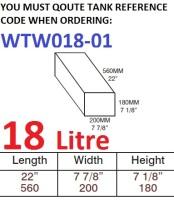 18 LITRE Water Tank & Loose Hatch WTW018-01