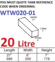 20 LITRE Water Tank & Loose Hatch WTW020-01