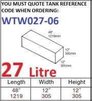 27 LITRE Water Tank & Loose Hatch WTW027-06