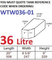 36 LITRE Water Tank & Loose Hatch WTW036-01