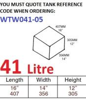 41 LITRE Water Tank & Loose Hatch WTW041-05