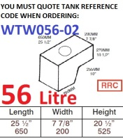 56 LITRE Water Tank & RAISED RED CAP WTW056-02