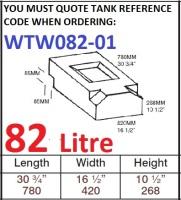 82 LITRE Water Tank & RED CAP WTW082-01