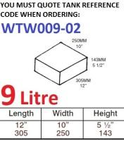 9 LITRE Water Tank & Loose Hatch WTW009-02