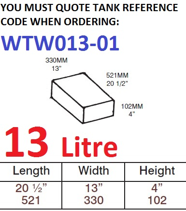 <!--013-->13 LITRE Water Tank & Loose Hatch WTW013-01