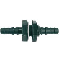 """NIFTBS050 10-12mm (3/8""""-1/2"""") """"Nut In"""" Straight Bulkhead Fitting"""
