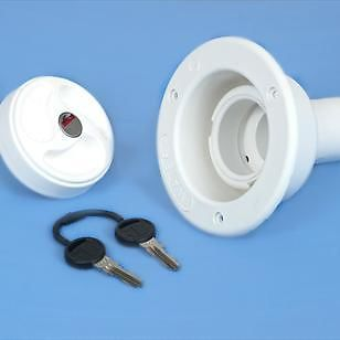 F23SHORT 40mm White Water Filler, Locking Cap (ZADI)