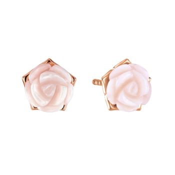 Pink Rose Mother of Pearl Studs