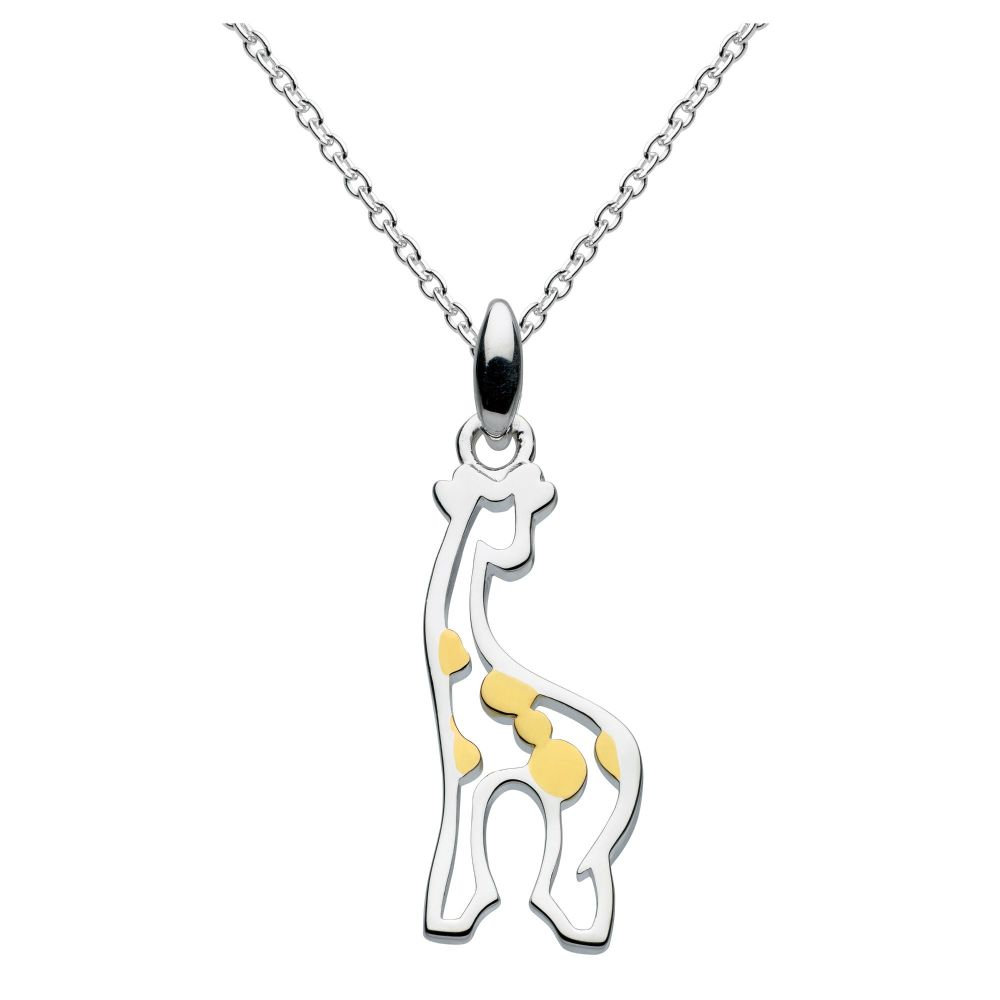 Giraffe Pendant on Adjustable Chain