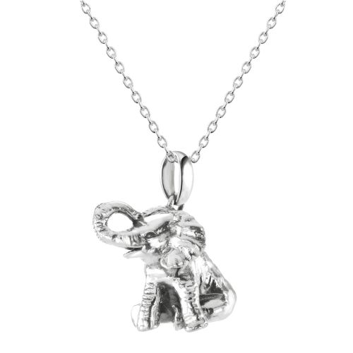 Elephant Pendant on Adjustable Chain