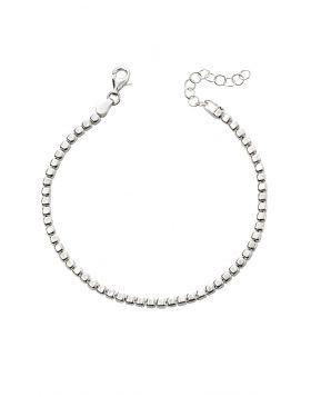 Silver Cube Bracelet