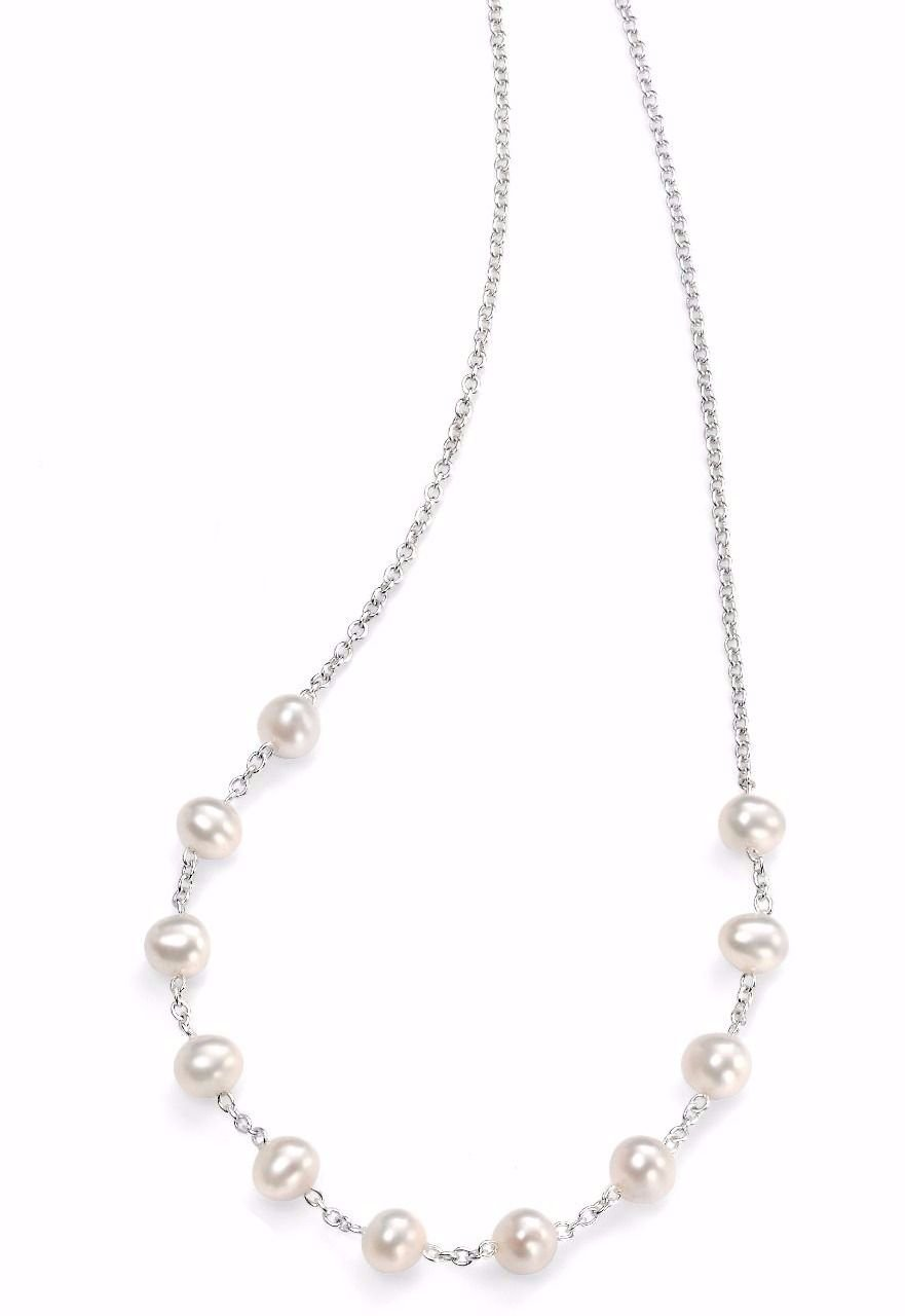FRESHWATER PEARL AND CHAIN NECKLACE