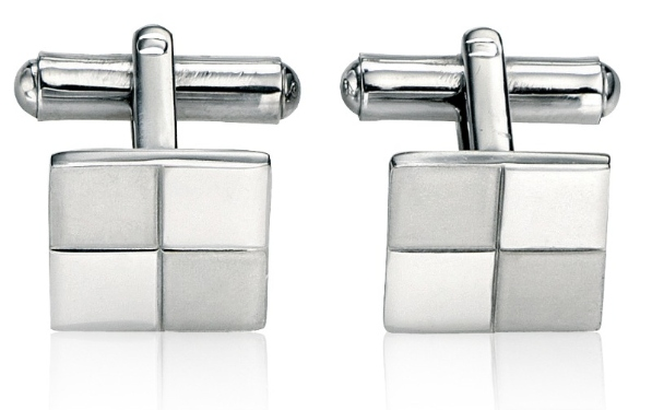 v319 square cufflink divided in 4