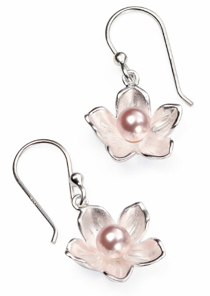 e4265p pearl in sil flower drops