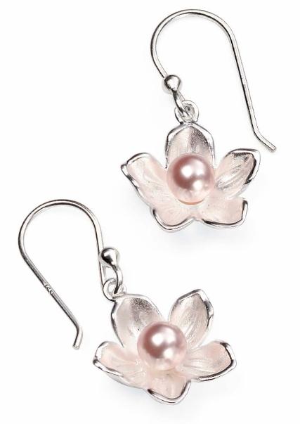 e4265p pearl in sil flower drops