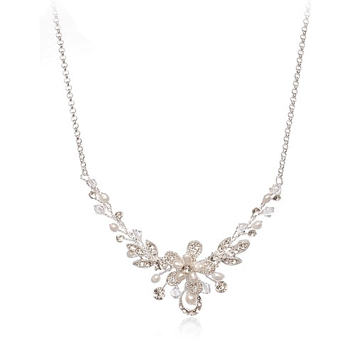 BOUQUET NECKLACE SILVER