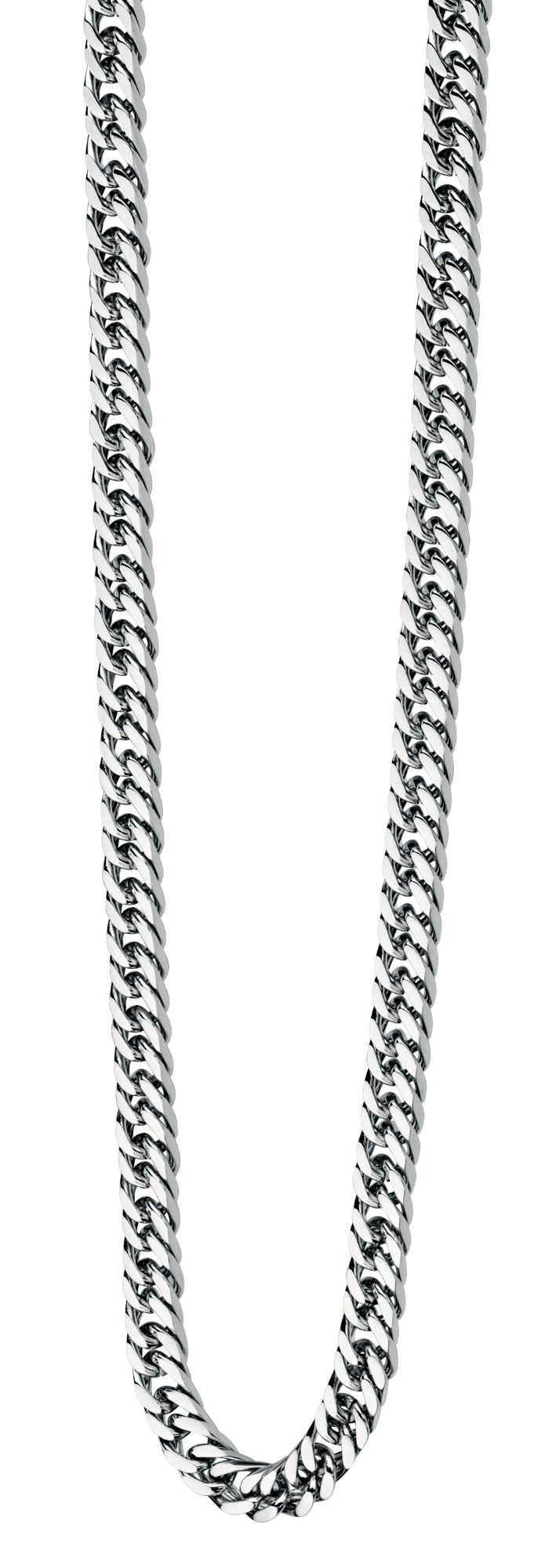 MEN'S HEAVY FLAT CURB CHAIN IN STAINLESS STEEL