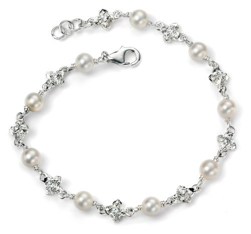FRESHWATER PEARL AND CUBIC ZIRCONIA BRACELET
