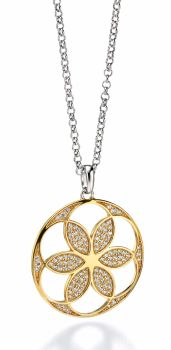 MANDALA PENDANT WITH GOLD PLATING
