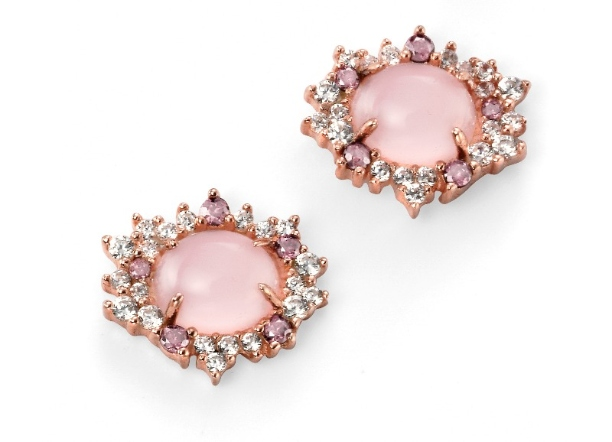 e4882p rose quartz and cz studs