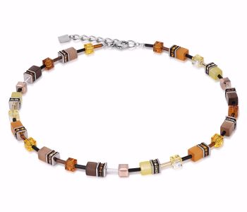 YELLOW-BROWN NECKLACE