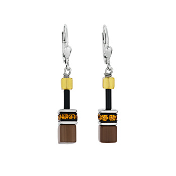 YELLOW-BROWN EARRINGS