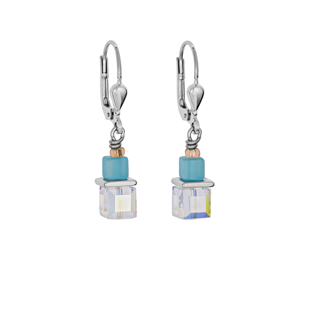 PASTEL CUBE AND TUBE EARRINGS