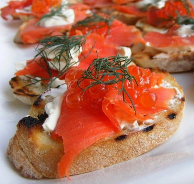 cured salmon on toast