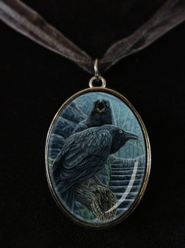 new raven pendant with 20 inch cord