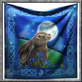 moon cazing hare altar cloth