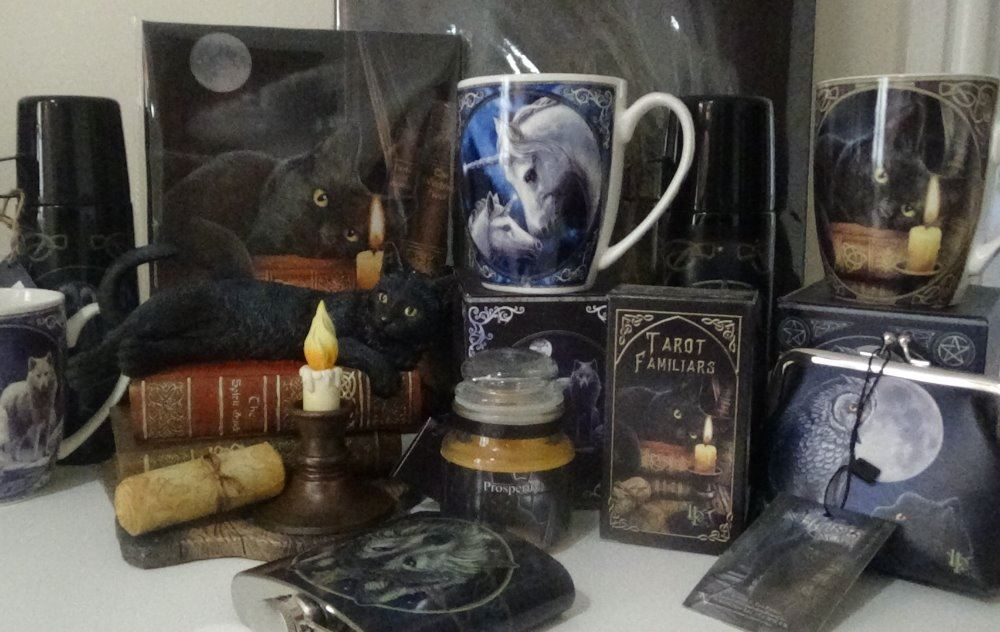 Incense, candles,altar cloths ,drinkware, throws..