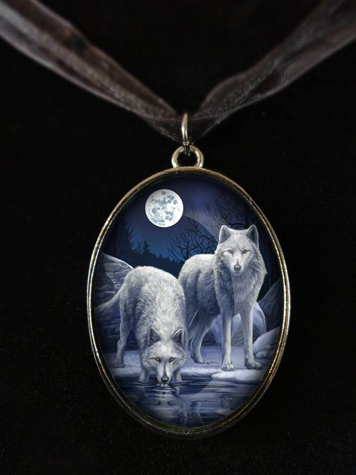Warriors of winter glass pendant with 20 inch cord