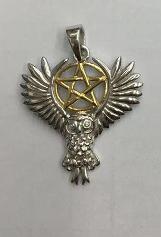 Spell keeper flying owl with scroll pendant only