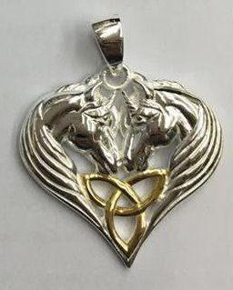 unicorn pendant in sterling silver 125 pendant only