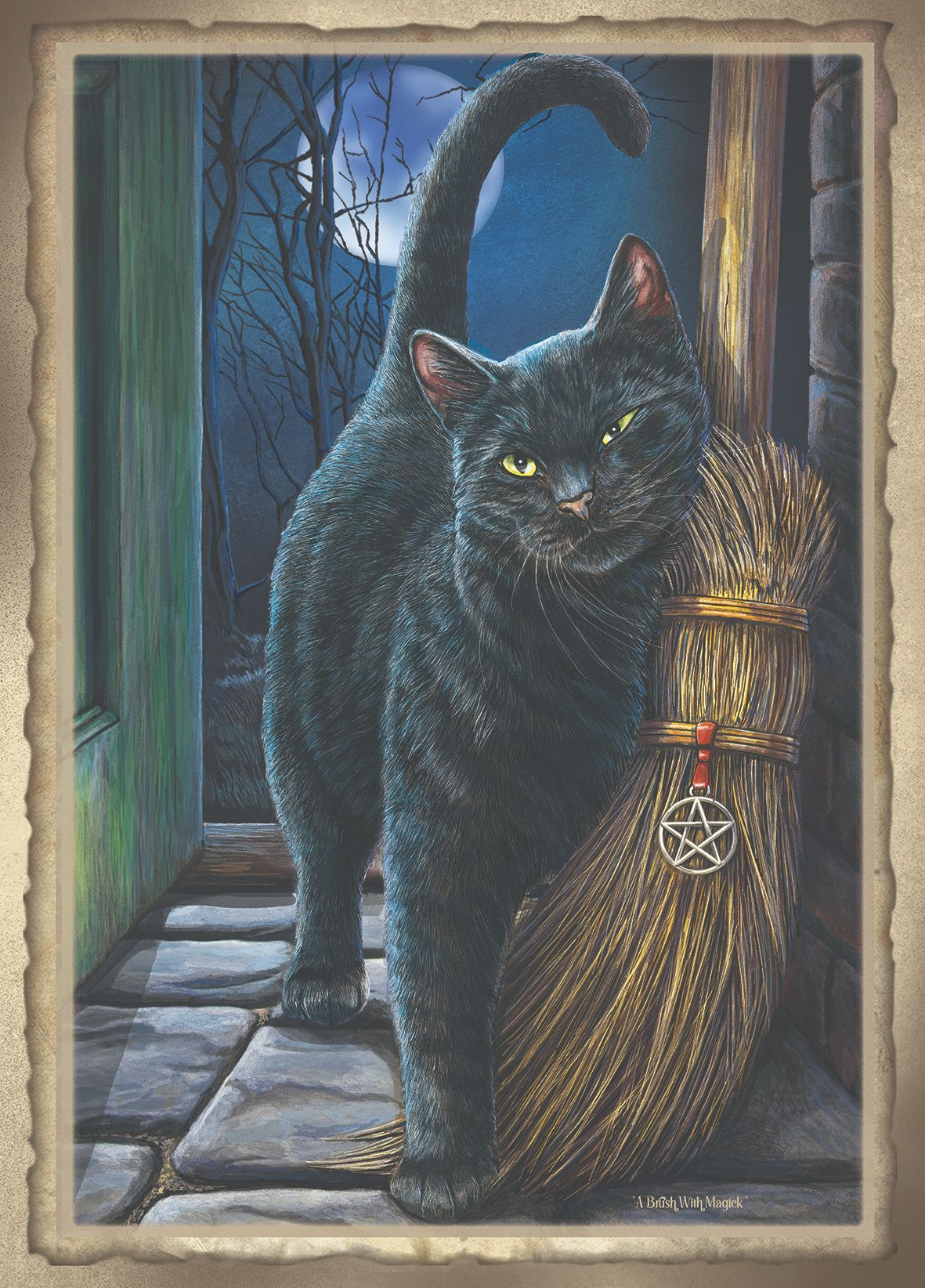 A brush with magick signed print A2 by Lisa Parker
