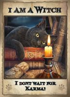 witching hour signed print A2 size Karma
