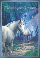 Unicorn singed print featuring the artwork the journey home by Lisa Parker